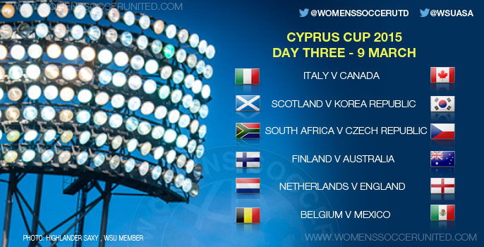 Cyprus Cup 2015 - Day Three, Group stage