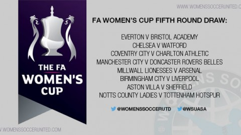 Result of the FA Women's Cup Fifth Round draw