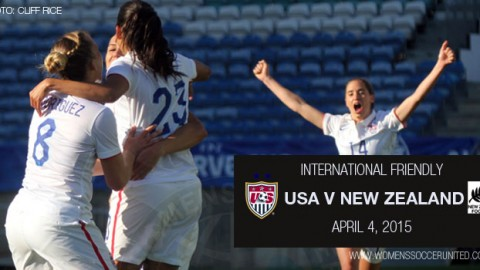 Full-time: USA 4-0 New Zealand – International Friendly (4 April 2015)