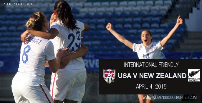 USA v New Zealand – International Friendly (4 April 2015)
