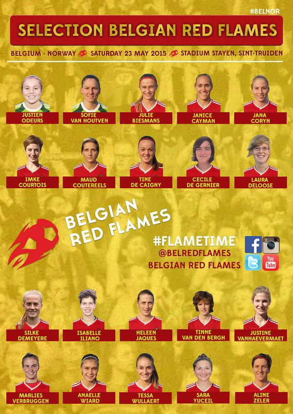 Belgium name squad for International friendly against Norway
