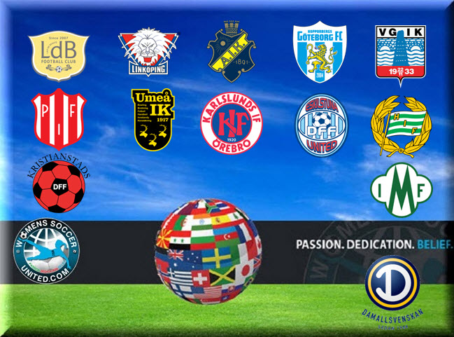 Swedish Damallsvenskan match Fixtures for the 2015 season