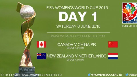 Day One at the FIFA Women's World Cup 2015 – Group Stage (6 June)