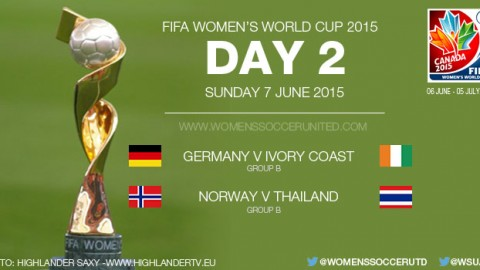 Day Two at the FIFA Women's World Cup 2015 – Group Stage (7 June)