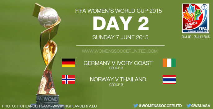 Day Two at the FIFA Women's World Cup 2015 - Group Stage (7 June)