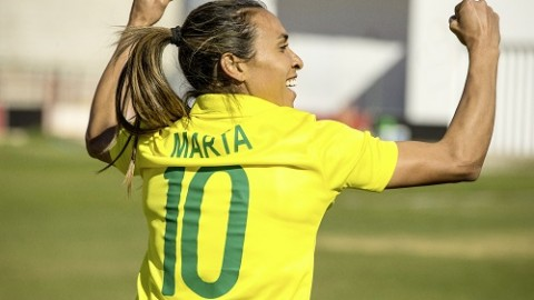 Marta has become Brazil's highest goalscorer beating Pelé's record!