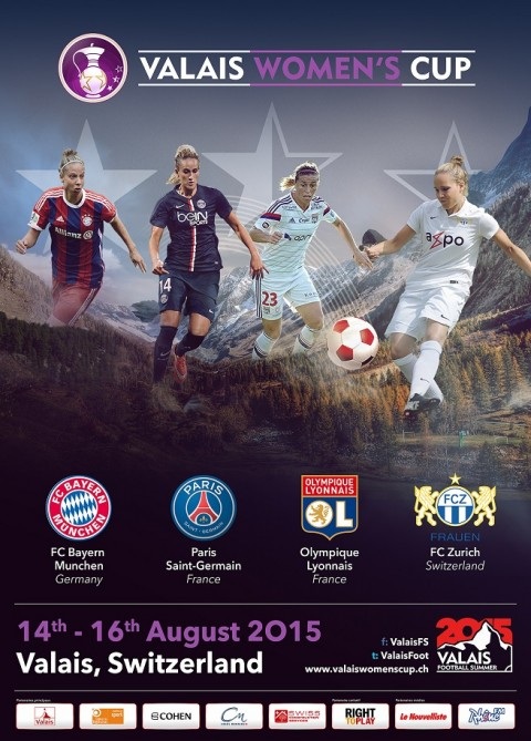 Teams Announced for the Valais Women's Cup 2015 tournament