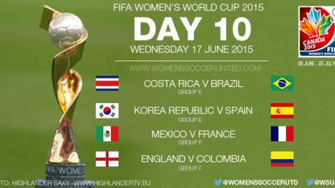 Day Ten at the FIFA Women's World Cup 2015 – Group Stage (17 June)