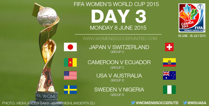Day Three at the FIFA Women's World Cup 2015 - Group Stage (8 June)