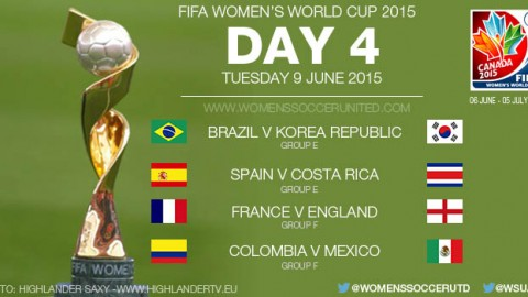 Day Four at the FIFA Women's World Cup 2015 – Group Stage (9 June)
