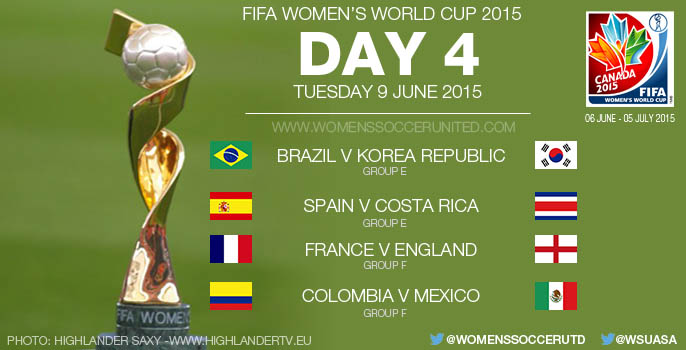 Day Four at the FIFA Women's World Cup 2015 - Group Stage (9 June)