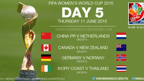Day Five at the FIFA Women's World Cup 2015 – Group Stage (11 June)