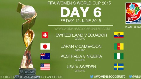 Day Six at the FIFA Women's World Cup 2015 – Group Stage (12 June)