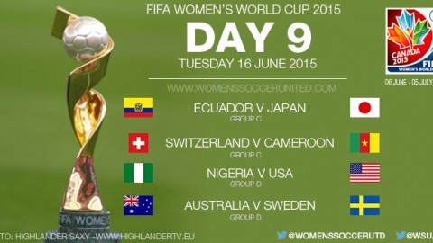 Day Nine at the FIFA Women's World Cup 2015 – Group Stage (16 June)