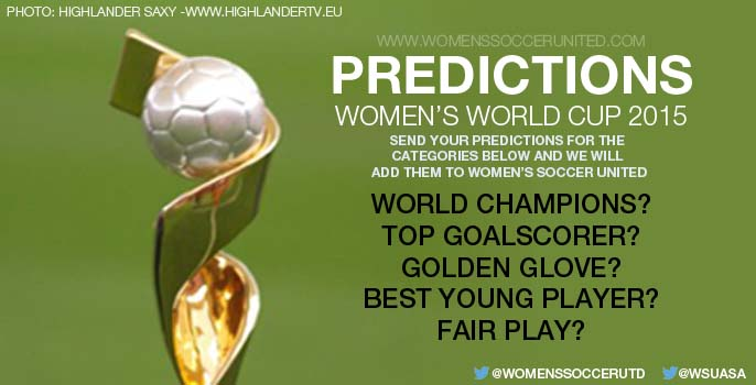 Predictions for the FIFA Women's World Cup 2015