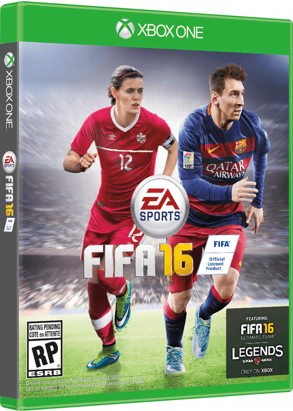 Christine Sinclair on FIFA 16 Canadian cover