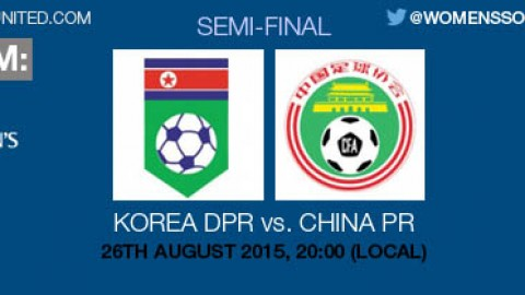 Live stream: Korea DPR v China PR | AFC U-19 Women's Championship 2015 Semi-final