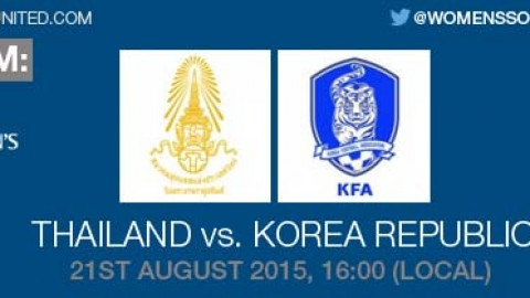 Live stream: Thailand v Korea Republic | 21 August 2015 – AFC U-19 Women's Championship 2015