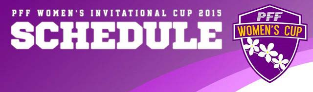 2015 PFF Women's Invitational Cup fixtures