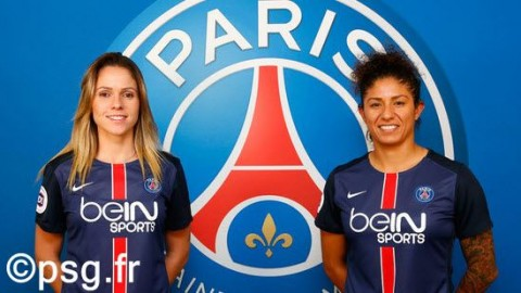 Erika and Cristiane sign for Paris Saint-Germain