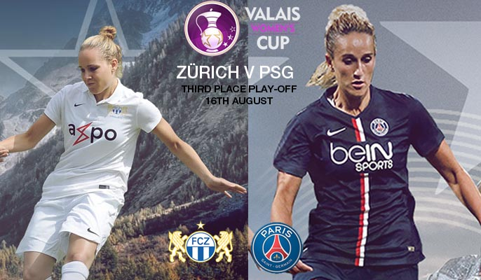 FC Zürich v PSG - 3rd place play-off | Valais Women's Cup 2015 – 16 August