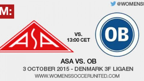 Live stream: ASA vs. OB | 3 October 2015 – Denmark 3F Ligaen
