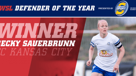 FC Kansas City's Becky Sauerbrunn Voted NWSL Defender of the Year