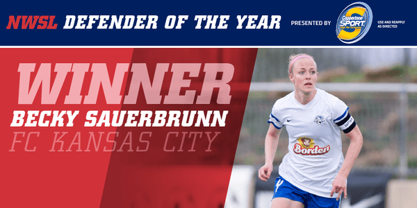 FC Kansas City's Becky Sauerbrunn Voted NWSL Defender of the Year - Photo via Twitter NWSL