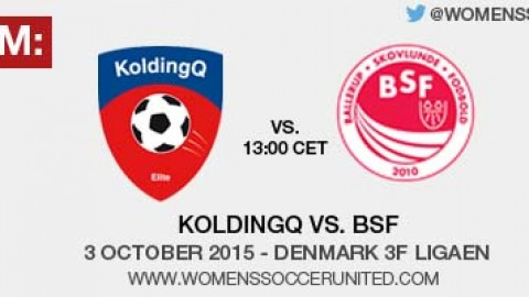 Live stream: KoldingQ vs. BSF | 3 October 2015 – Denmark 3F Ligaen