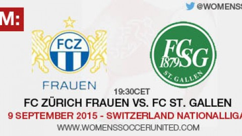 Live stream: FC Zürich vs. FC St. Gallen | 9 September 2015 – Switzerland Nationalliga A
