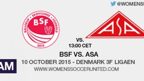 Live stream: BSF vs. ASA | Denmark 3F Ligaen – 10 October 2015