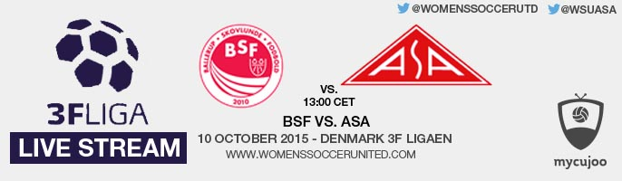 Live stream: BSF vs. ASA | Denmark 3F Ligaen - 10 October 2015