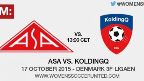 Live stream: ASA vs KoldingQ | Denmark 3F Ligaen – 17 October 2015