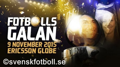 Award Nominees announced for the Swedish Football Gala 2015