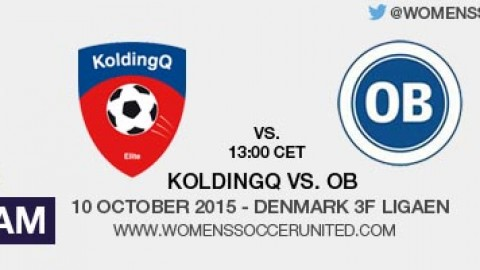 Live stream: KoldingQ vs. OB | Denmark 3F Ligaen – 10 October 2015