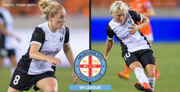 Kim Little and Jess Fishlock sign for Australia Westfield W-League club Melbourne City