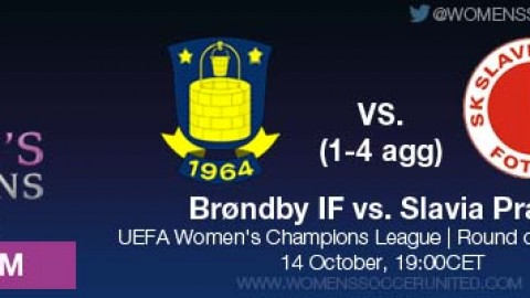 LIVE STREAM: Brøndby vs. Slavia Praha (1-4 AGG) | UEFA Women's Champions League, Round of 32, Second leg – 14 October