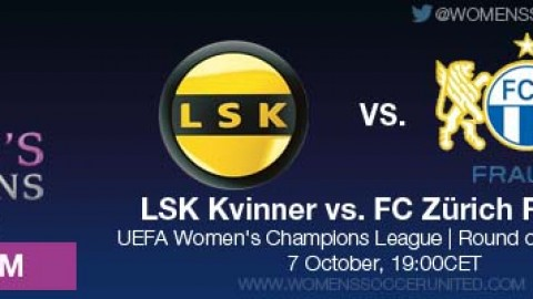 LIVE STREAM: LSK Kvinner vs. FC Zürich Frauen | UEFA Women's Champions League, Round of 32, First leg