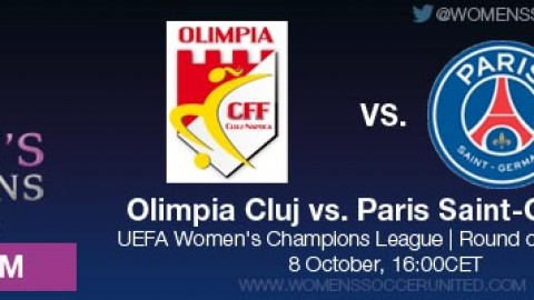 LIVE STREAM: Olimpia Cluj vs. Paris Saint-Germain | UEFA Women's Champions League, Round of 32, First leg – 8 October