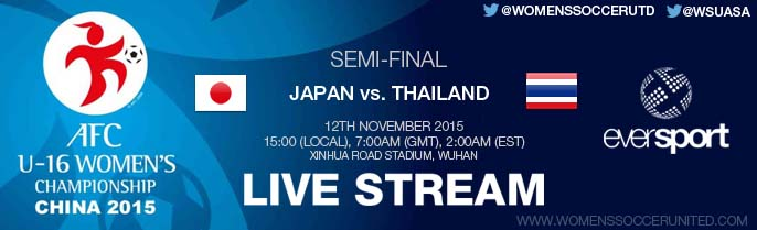 LIVE STREAM: Japan vs  Thailand | Semi-final | AFC U-16 Women's