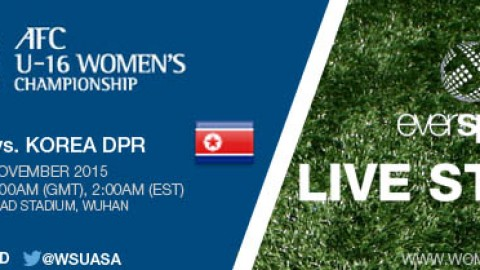 LIVE STREAM: Japan vs. DPR Korea | AFC U-16 Women's Championship 2015 – 9 November