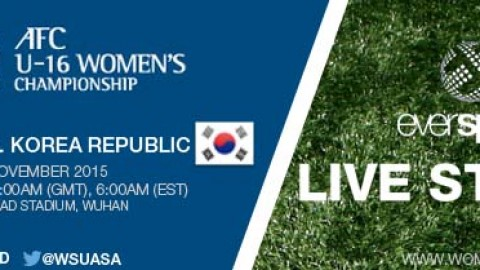 LIVE STREAM: China PR vs. Korea Republic | AFC U-16 Women's Championship 2015 – 4 November