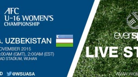 LIVE STREAM: Japan vs. Uzbekistan | AFC U-16 Women's Championship 2015 – 5 November