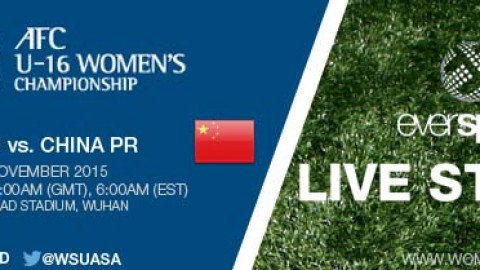 LIVE STREAM: IR Iran vs. China PR | AFC U-16 Women's Championship 2015 – 6 November