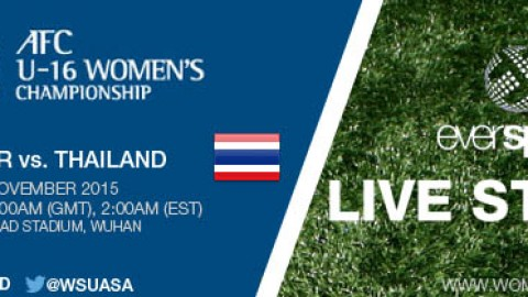 LIVE STREAM: China PR vs. Thailand | AFC U-16 Women's Championship 2015 – 8 November