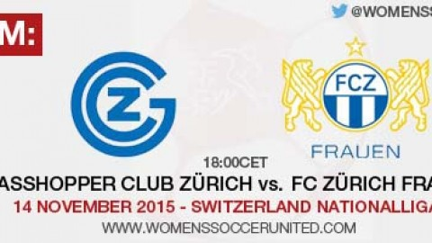 Live stream: Grasshopper Club Zürich vs. FC Zürich Frauen | Switzerland Nationalliga A – 14 November 2015