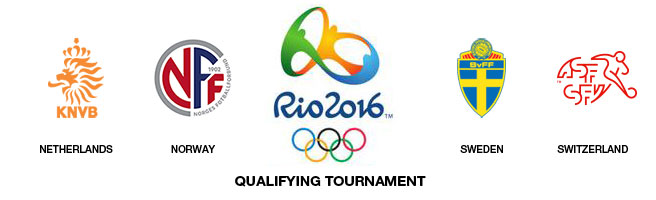 Rio 2016 qualifying tournament between Netherlands, Sweden, Norway and Switzerland