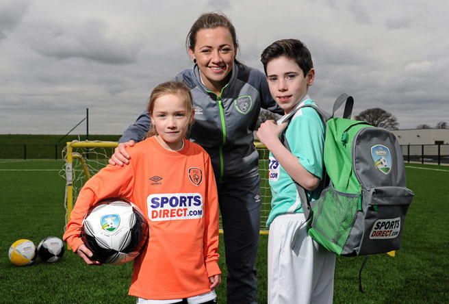 Katie McCabe unveiled as Sportsdirect.com FAI Summer Soccer Schools female ambassador