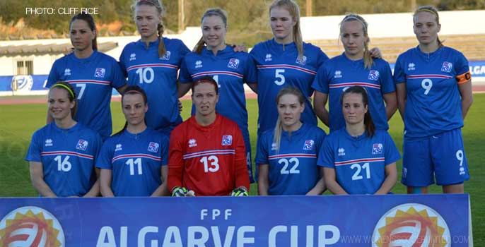Iceland women's national team at the Algarve Cup