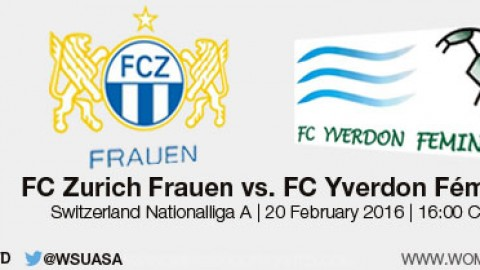 Live stream: FC Zurich Frauen vs. FC Yverdon Féminin | Switzerland Nationalliga A – 20 February 2016